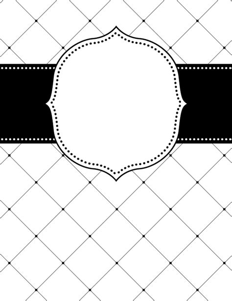 black and white binder cover templates free printable black and white lattice binder cover