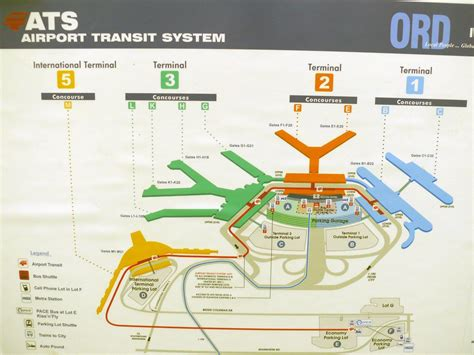 ohare map map of o hare airport map chicago o hare airport united states of america