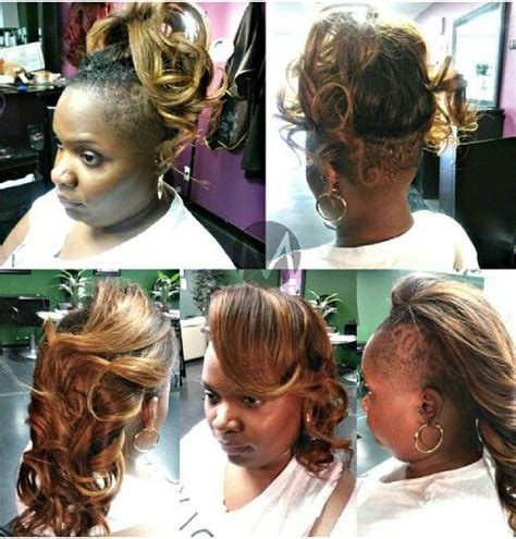 how to do shaved side sew in shaved sides sew in hair pinterest shaved sides