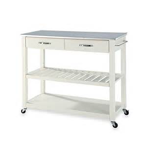 kitchen island cart with stainless steel top crosley stainless steel top rolling kitchen cart island