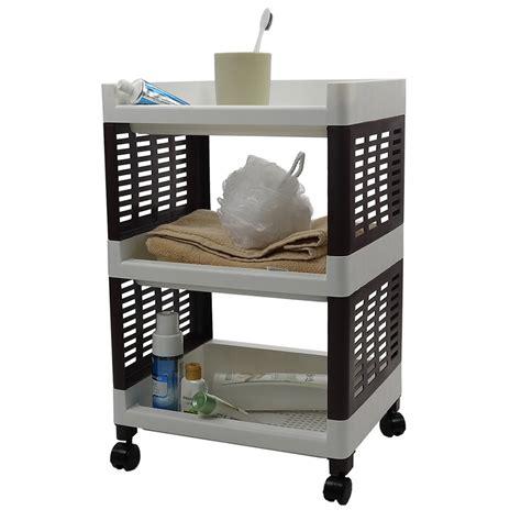 bathroom storage cart 3 tier rolling utility cart bathroom storage shelves plastic white brown ebay
