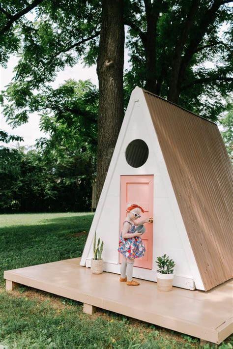 aframe homes 2018 a frame playhouse diy a beautiful mess