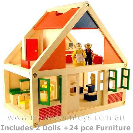 wooden doll house  furniture  wooden toys