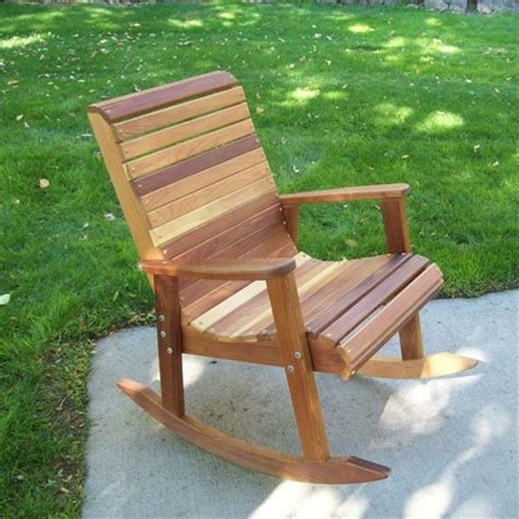 outdoor wooden rocking chair plans  tables