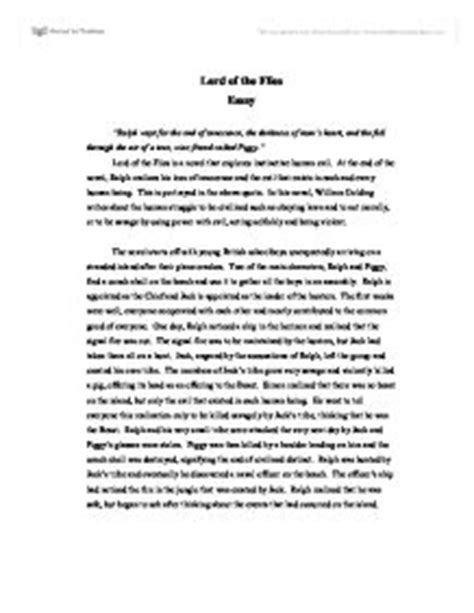 Lord Of The Flies Essay Introduction by Lord Of The Flies Essay International Baccalaureate Languages Marked By Teachers