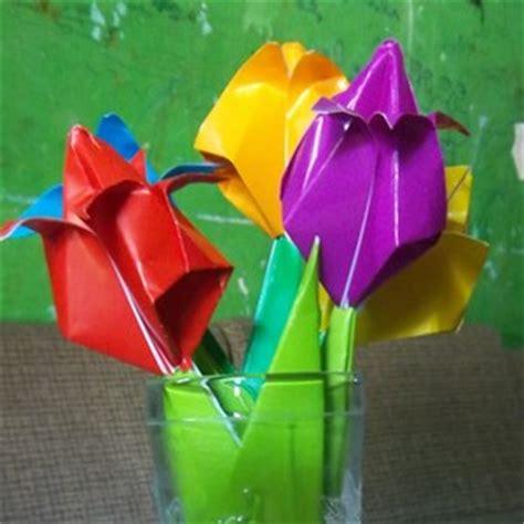 cara membuat bunga tulip dari kertas jagung cara membuat bunga tulip dari kertas origami bimbingan