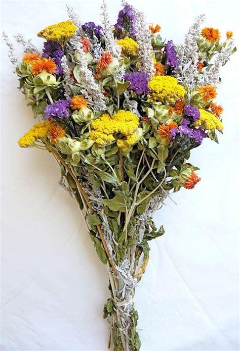 Wedding Flower Bunch by Dried Flower Bouquet Yellow Bunch Wedding Flower And