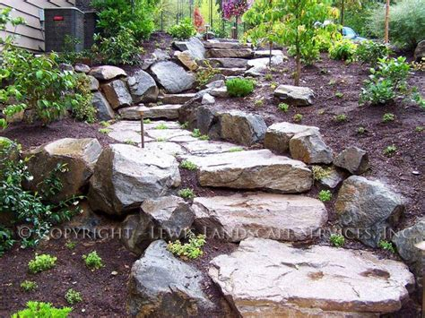 Rock Garden Steps Rock Slab Steps Traditional Landscape Portland By Lewis Landscape Services Inc