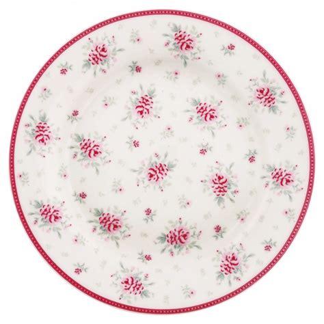 Flora White greengate porzellan teller flora white sl designkonzept