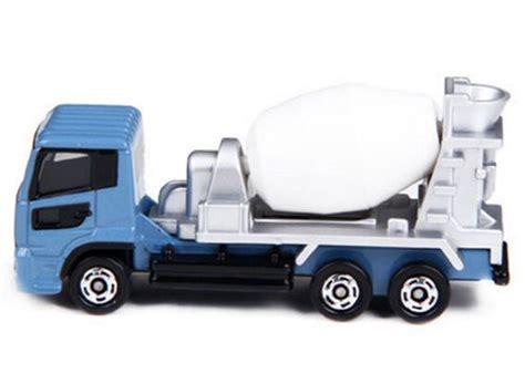Diecast Miniatur Tomica 53 Nissan Diesel Quon Mixer Car blue mini scale no 53 tomy nissan diesel quon mixer truck nn01t0045 vktoybuy