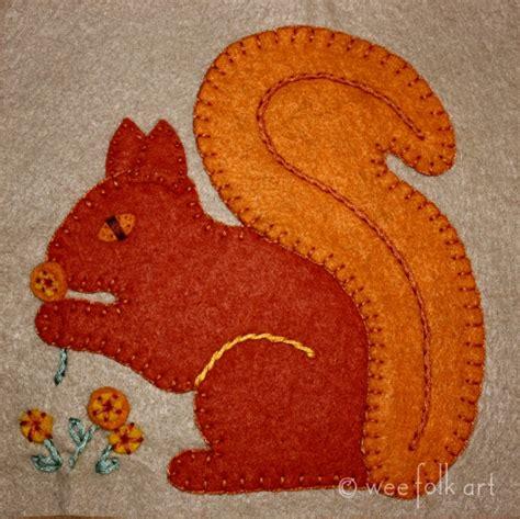 free applique squirrel applique block wee folk