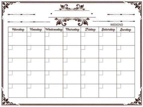 make monthly calendar easy 100 make a monthly calendar freelancer
