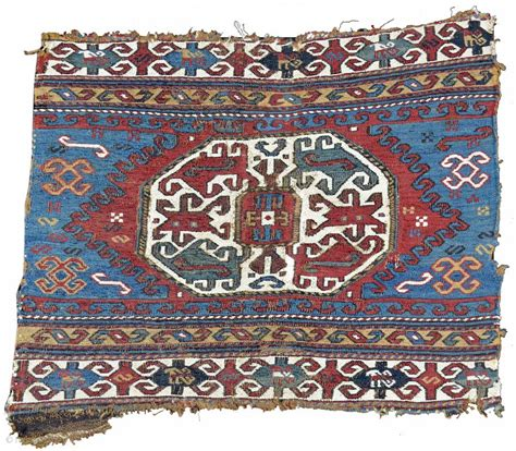 Pap Rugs by This Energetically Sumak End Panel Was Woven In The