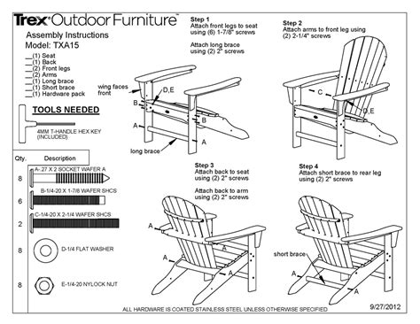 adirondack chairs dimensions images