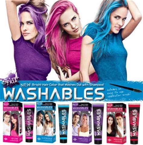 wash out hair color products temporary hair color products wash easybrush hair color