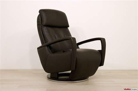 poltrona girevole design poltrona relax manuale moderna reclinabile con girevole