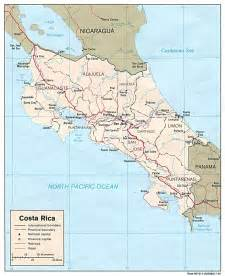 detailed road map of costa rica detailed administrative and political map of costa rica costa rica detailed administrative and