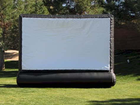 inflatable backyard movie screen event and party games cincinnati inflatables