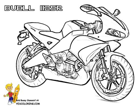 free coloring pages of honda motorbikes