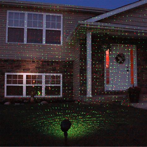 outdoor green red laser led landscape projector light