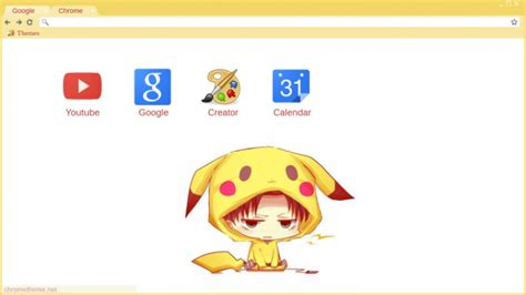 chrome theme pikachu levi pikachu chrome theme themebeta