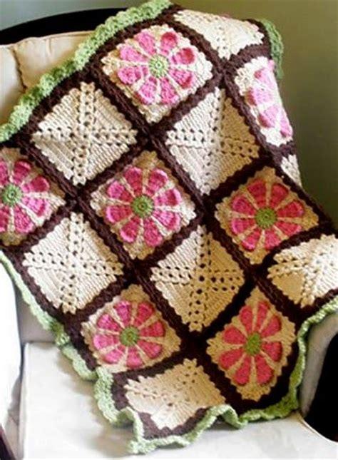 flower pattern afghan crochet for children daisy flower crochet charity square
