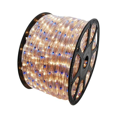 blue and clear 150 feet chasing rope light spools 3 wire