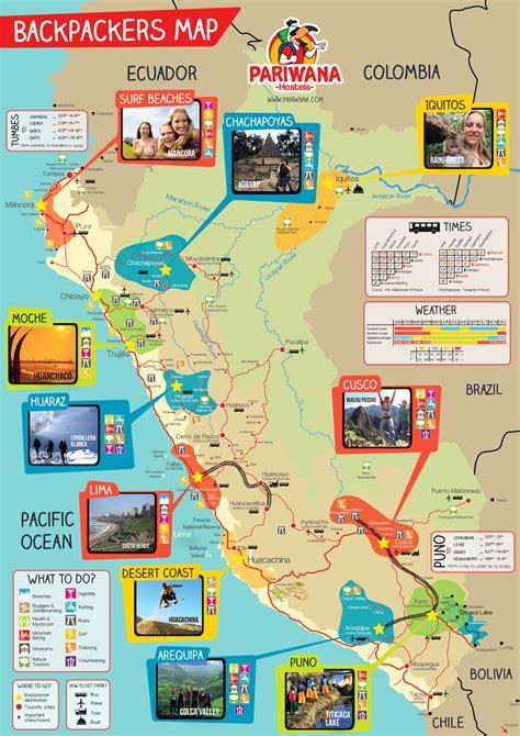 map of peru pariwana free maps
