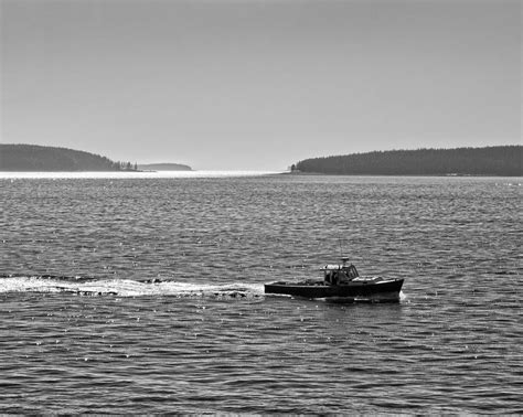 lobster boat acadia lobster boat and islands off acadia national park in maine