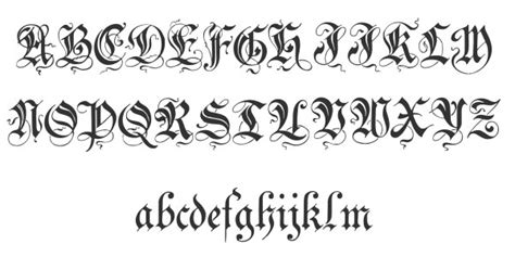 tattoo fonts preview 40 free cool cursive fonts hative
