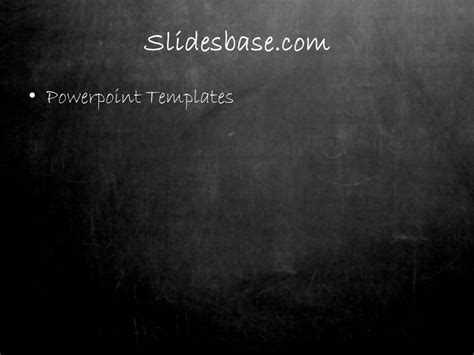 Blackboard Chalkboard Powerpoint Template Slidesbase Blackboard Powerpoint Template