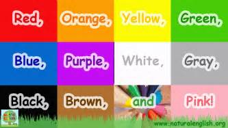colors in song the colors song learn the colors colours simple
