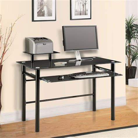black glass computer desk innovex black glass computer desk dp1042g29