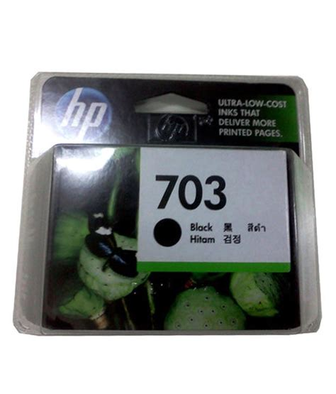 Cartridge Hp 703 Black 1 hp deskjet 703 black ink cartridge buy hp deskjet 703