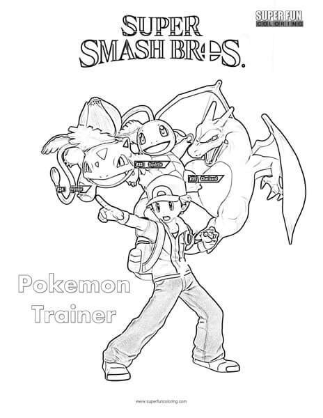 smash bros coloring pages trainer smash brothers coloring page