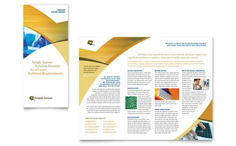 it computer consulting tri fold brochure templates