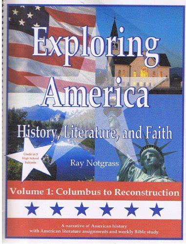 Exploring America History Literature And Faith Quiz