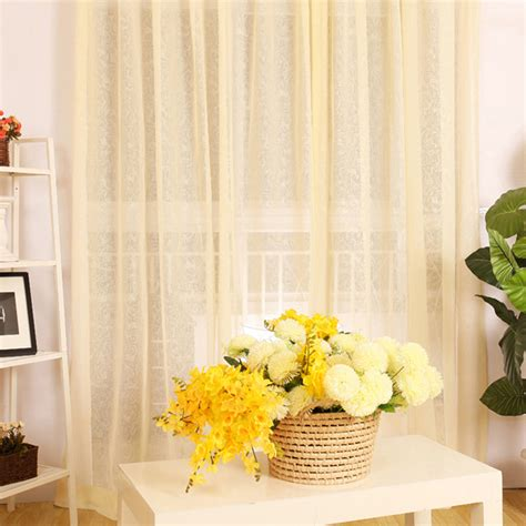 yellow sheer curtain yellow sheer curtains 3qmart pair of sheer voile window