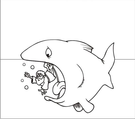 Free Coloring Pages Of Jonas Y El Gran Pez Jonah And The Big Fish Coloring Page