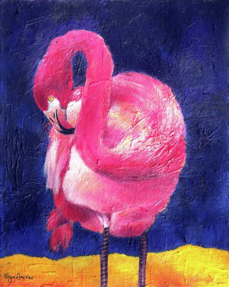 paint nite rockville md flamingo by noga ami rav