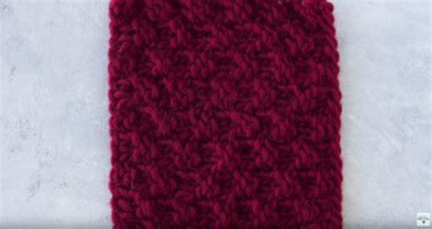 box stitch knitting fuzzy diy pom pom favecrafts