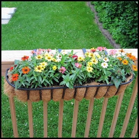 rail hanging planters deck rail planter boxes planters for railings hooks