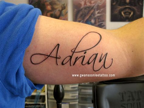 adrian name tattoo desogn on arm tattoomagz