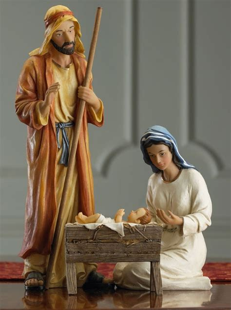 3 piece holy family christmas outdoor set collectibles nativity sets gifts 9 quot holy family nativity set 3 set