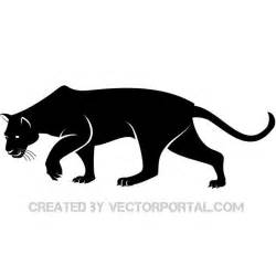 panther silhouette black panther vector silhouette by vectorportal on deviantart
