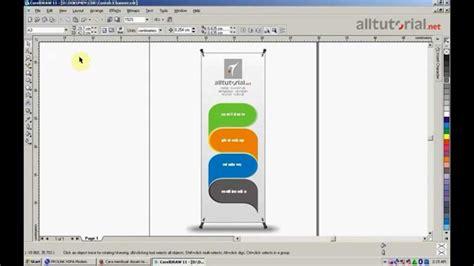 tutorial desain banner cara membuat desain x banner dengan coreldraw youtube