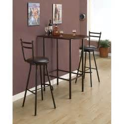 Small Bar Table Cappuccino Black Metal Space Saver Bar Table By Monarch Specialties
