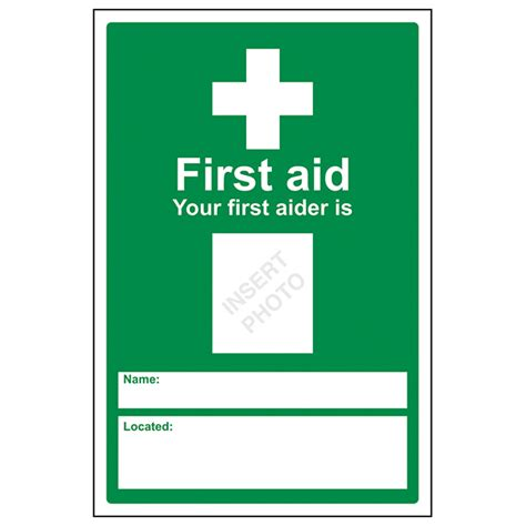 aid poster template general aid signs eureka direct