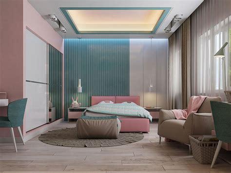 idee  dipingere la camera da letto  due colori