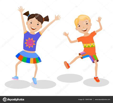 imagenes infantiles niños bailando ni 241 os bailando en trajes coloridos vector de stock